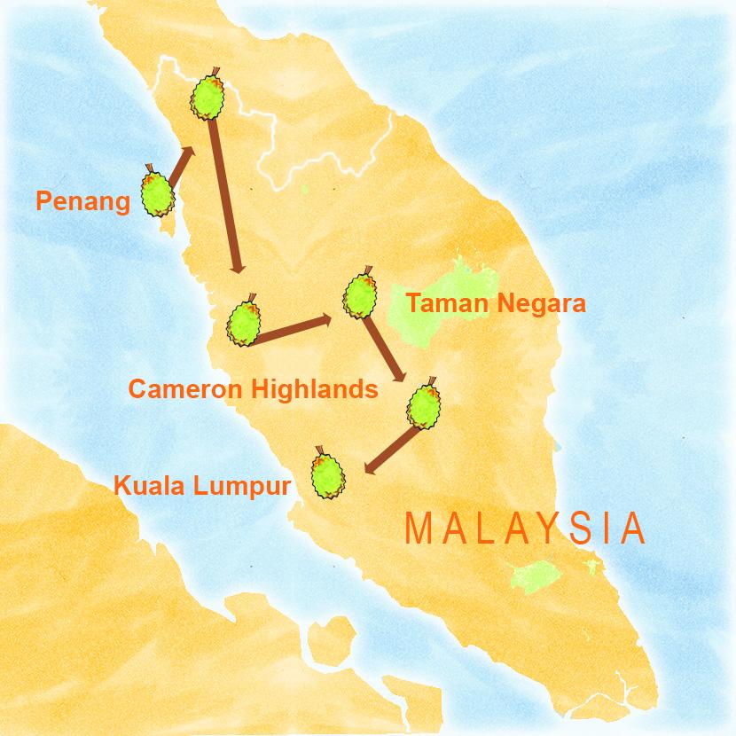 Malaysia Tour Map