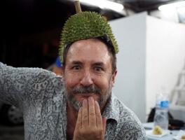 DIY Durian Hat at Soon Huat, Another Kuala Lumpur Durian Stall